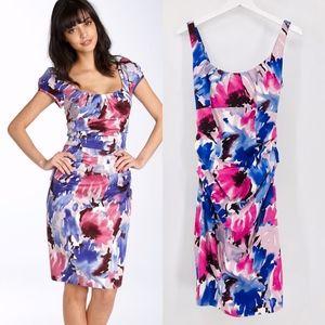 Suzi Chin Maggy Boutique Floral Ruche Dress